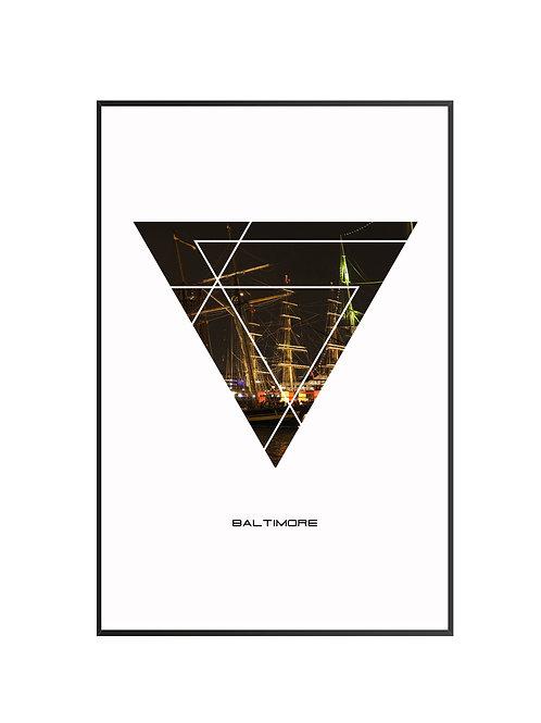 "Baltimore City Poster 24""x36"" - v2"