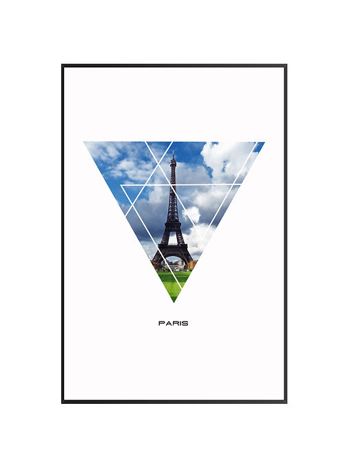 "Paris Triangular Poster 24""x36"" - v1"