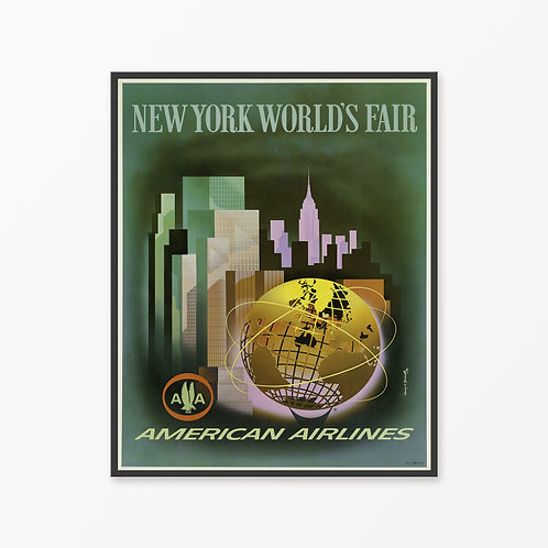 New York Vintage Travel Poster v3