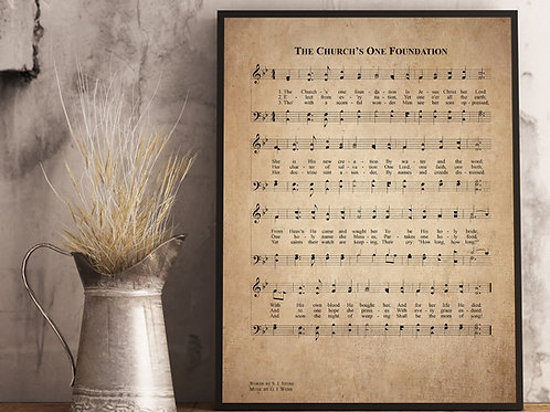 The Church`s one foundation - Hymn Print