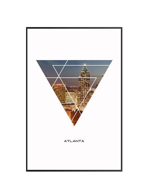"Atlanta City Poster 24""x36"""