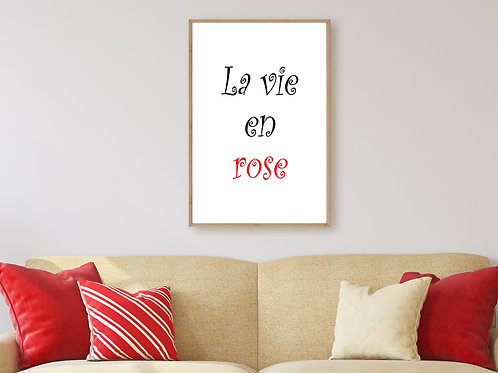 La Vie en Rose - Large wall art