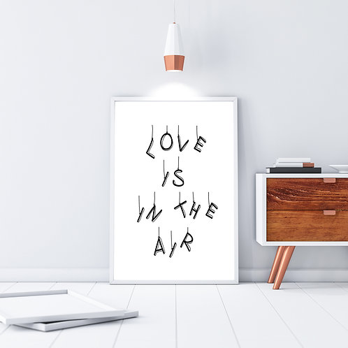 Love is in the air - Large wall art