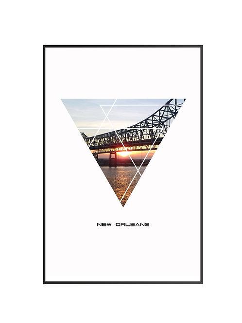 """New Orleans Triangular Poster 24""""x36"""" - v1"""