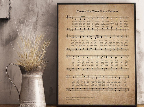 Crown Him With Many Crowns - Hymn Print