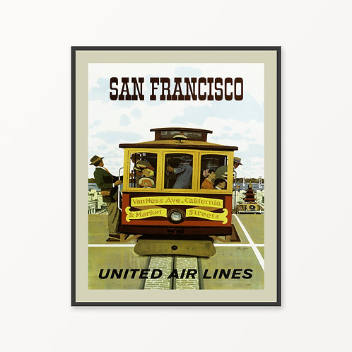 San Francisco Vintage Travel Poster v4