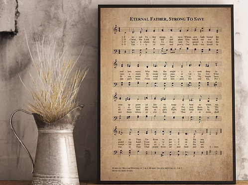 Eternal Father, Strong to save - Hymn Print