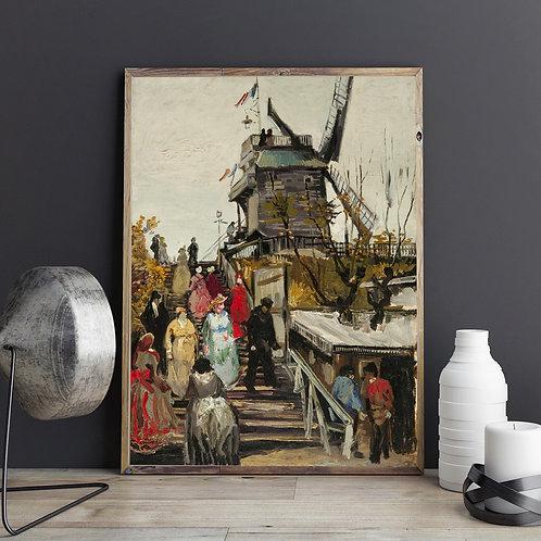 Le Moulin de Blute-Fin, 1886 by Vincent Van Gogh
