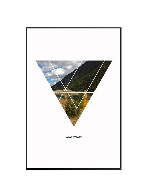 """Denver Triangular City Poster 24""""x36"""" - v2"""
