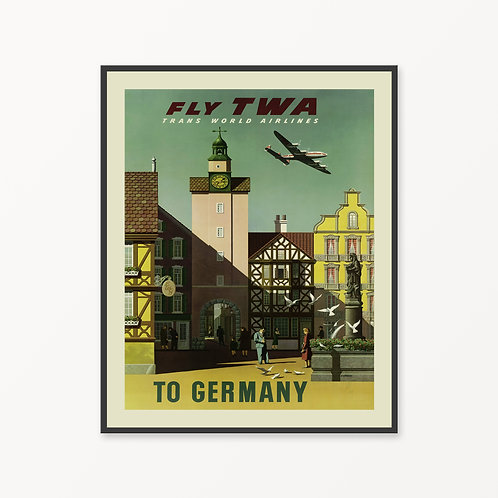 Germany Vintage Travel Poster