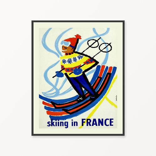 France Vintage Travel Poster v2