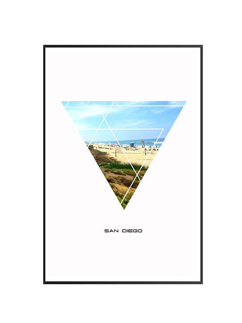 "San Diego Triangular Poster 24""x36"" - v1"