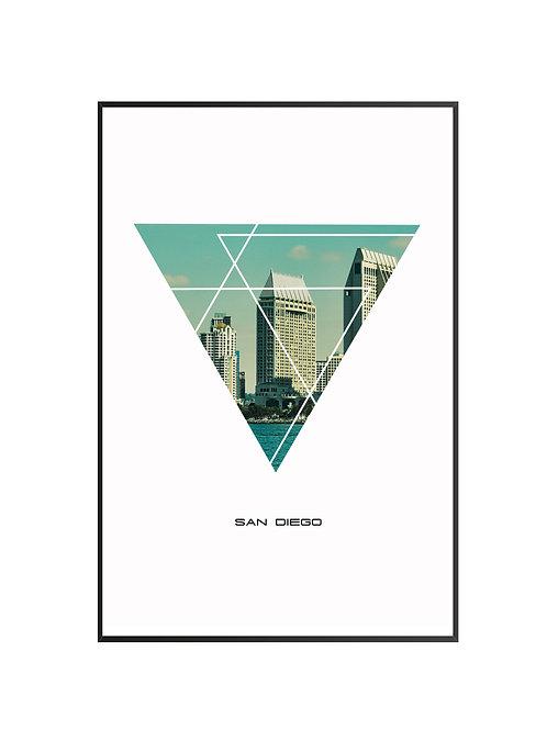"San Diego Triangular Poster 24""x36"" - v2"