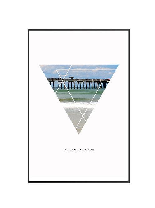 """Jacksonville Triangular Poster 24""""x36""""- v1"""
