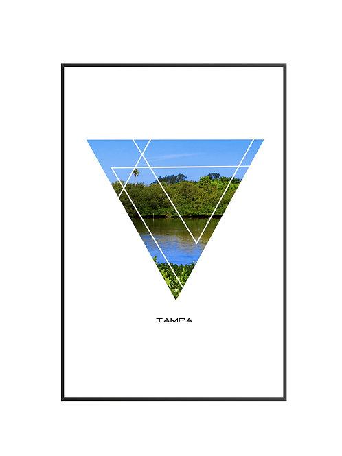 "Tampa Triangular Poster 24""x36"""