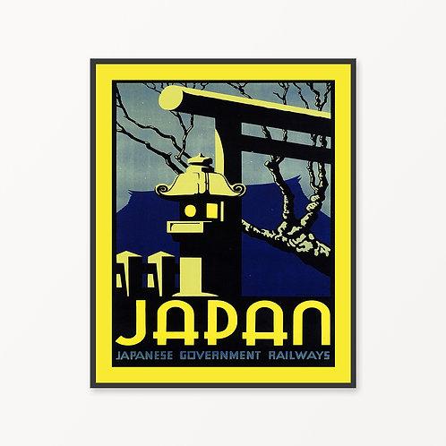 Japan Vintage Travel Poster v2