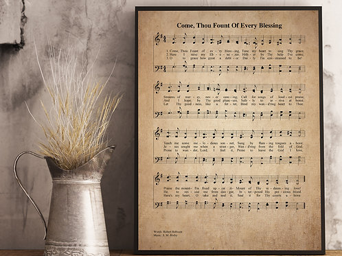 Come, Thou Fount of Every Blessing (v2) - Hymn Print