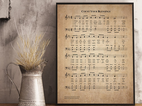 Count your Blessings - Hymn Print