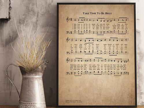Take time to be Holy - Hymn Print