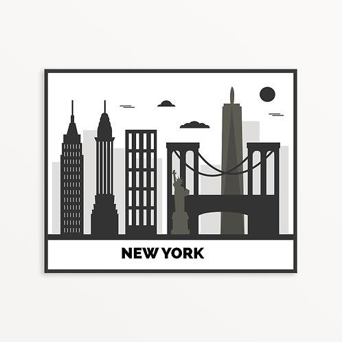 New York City Silhouette v1