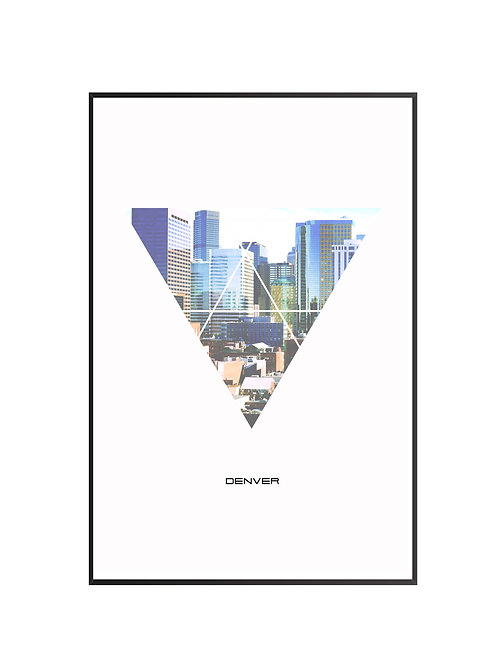 "Denver Triangular City Poster 24""x36"" - v3"
