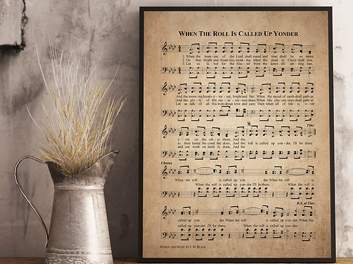 When the Roll is Called up Yonder - Hymn Print