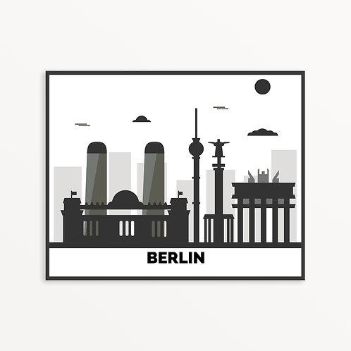 Berlin City Silhouette v1