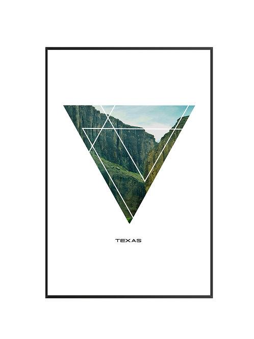 "Texas Triangular Poster 24""x36"" - v2"