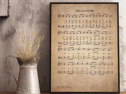 Jesus Loves Me - Hymn Print