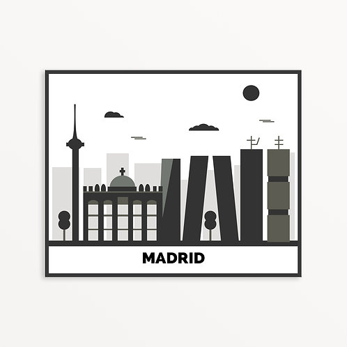 Madrid City Silhouette v2