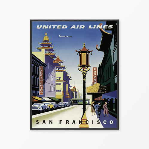 San Francisco Vintage Travel Poster v3