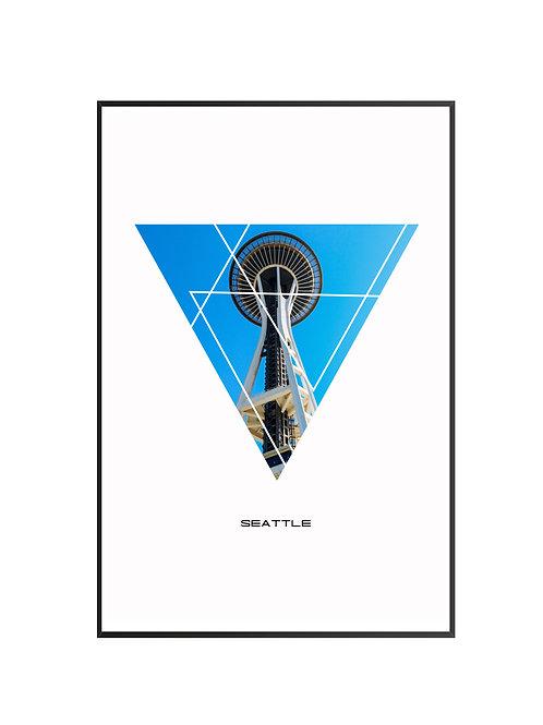 """Seattle Triangular Poster 24""""x36"""""""