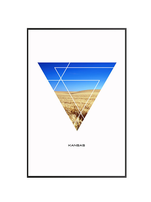 "Kansas Triangular Poster 24""x36"""