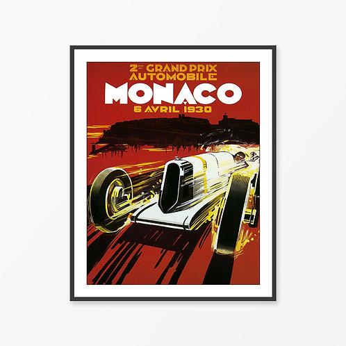 Monaco Vintage Travel Poster