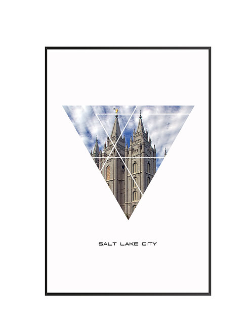"Salt Lake City Triangular Poster 24""x36"" - v1"