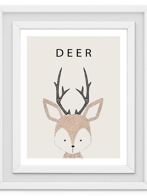 Deer Nursery Print