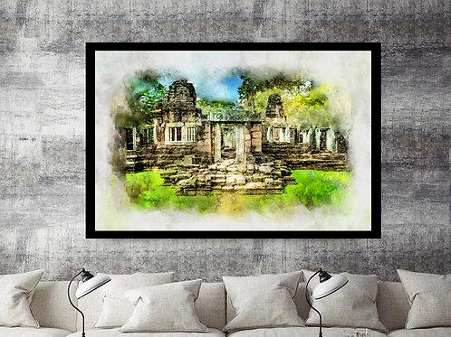 Angkor Wat temple (Cambodia) Large Wall Art