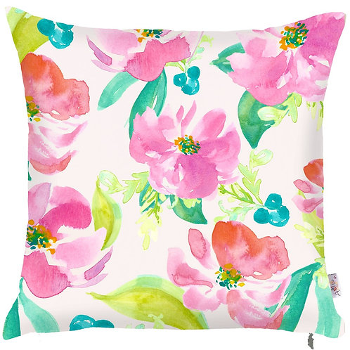 Pillow Cover - Pink Flowers - 502-8346/1