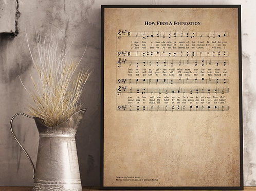 How Firm a Foundation - Hymn Print