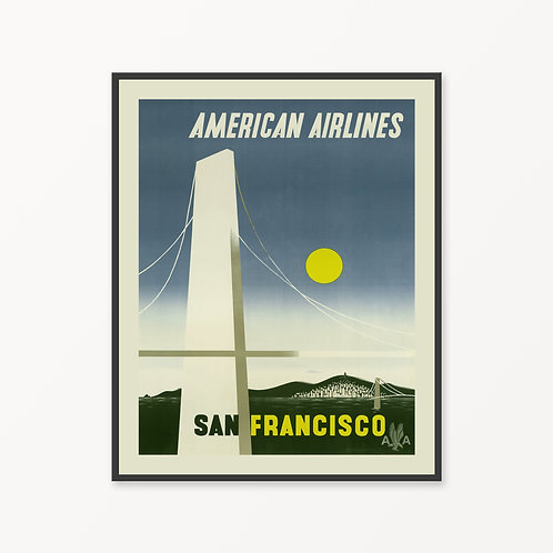 San Francisco Vintage Travel Poster v5