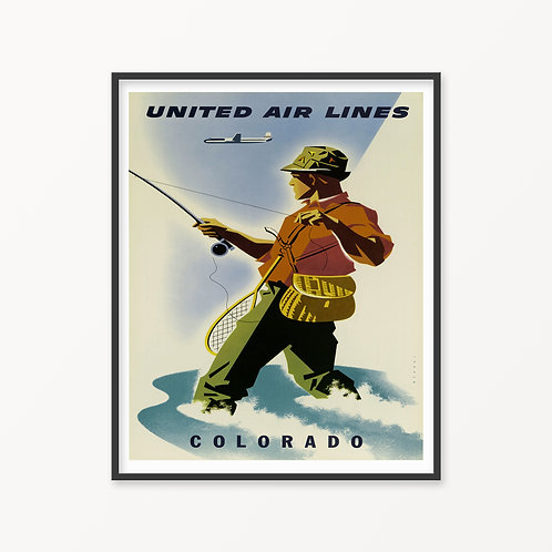 Colorado Vintage Travel Poster