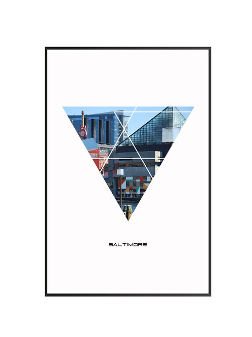 "Baltimore City Poster 24""x36"" - v1"