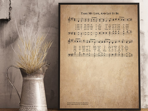 Take my Life and let it be - Hymn Print