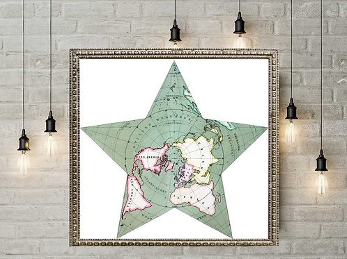 Herman Berghaus Star Map