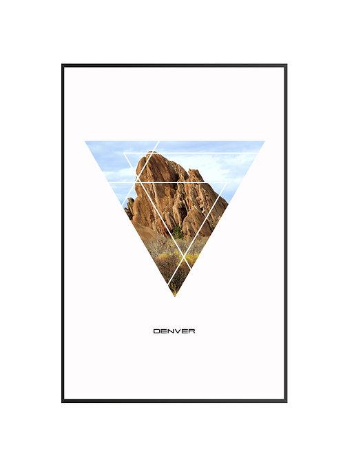 """Denver Triangular City Poster 24""""x36"""" - v1"""