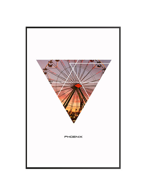 "Phoenix Triangular Poster 24""x36"""