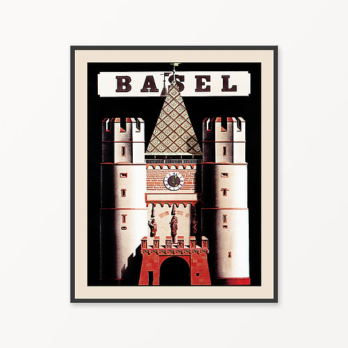 Basel Vintage Travel Poster