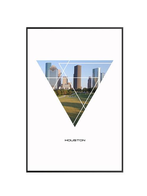 "Houston Triangular Poster 24""x36"""