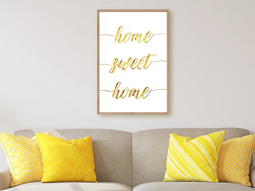 Home Sweet Home - Large wall art