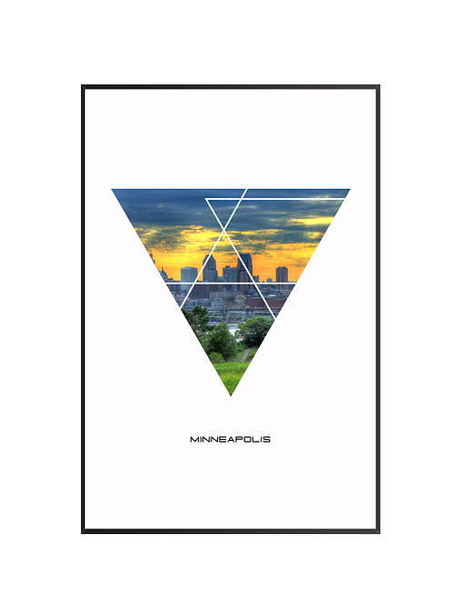 "Minneapolis Triangular Poster 24""x36"""